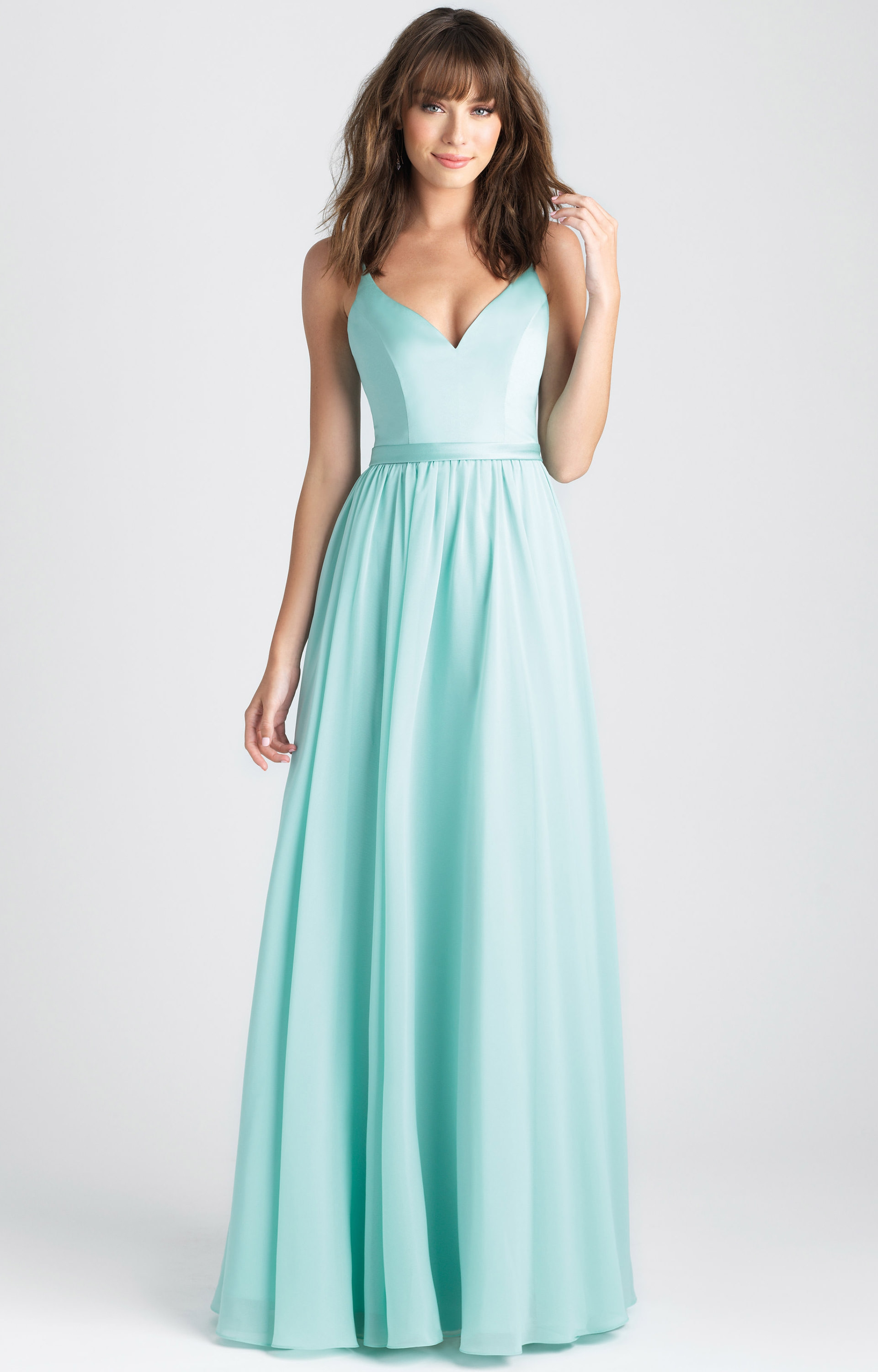 Allure Bridesmaids 1503 - A-Line V-Neck Chiffon