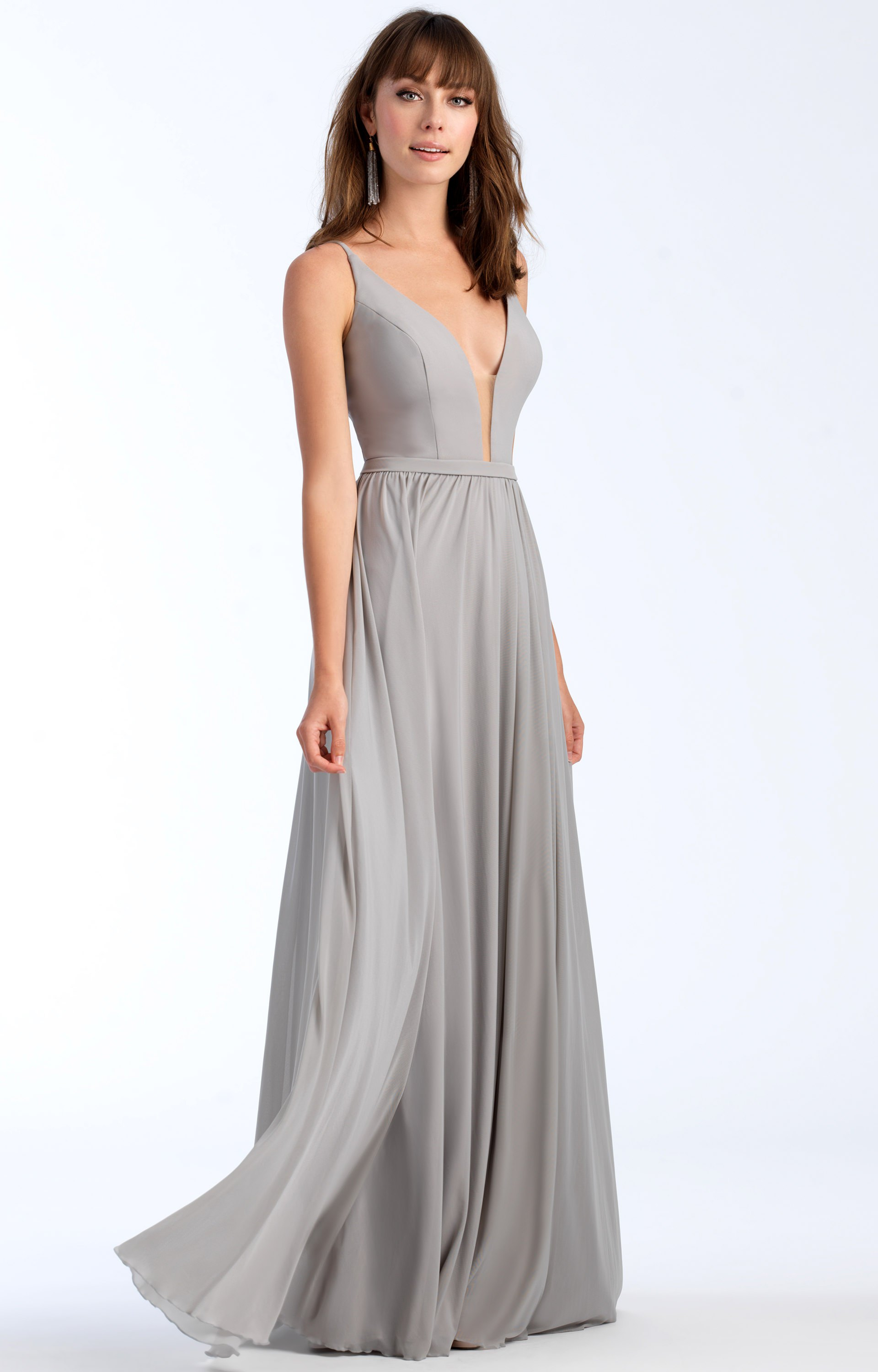 allure bridesmaids 1557 vneck stretch chiffon aline