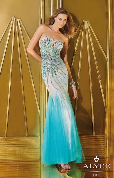 Alyce Paris 6203 Peacock Passion Dress Prom Dress