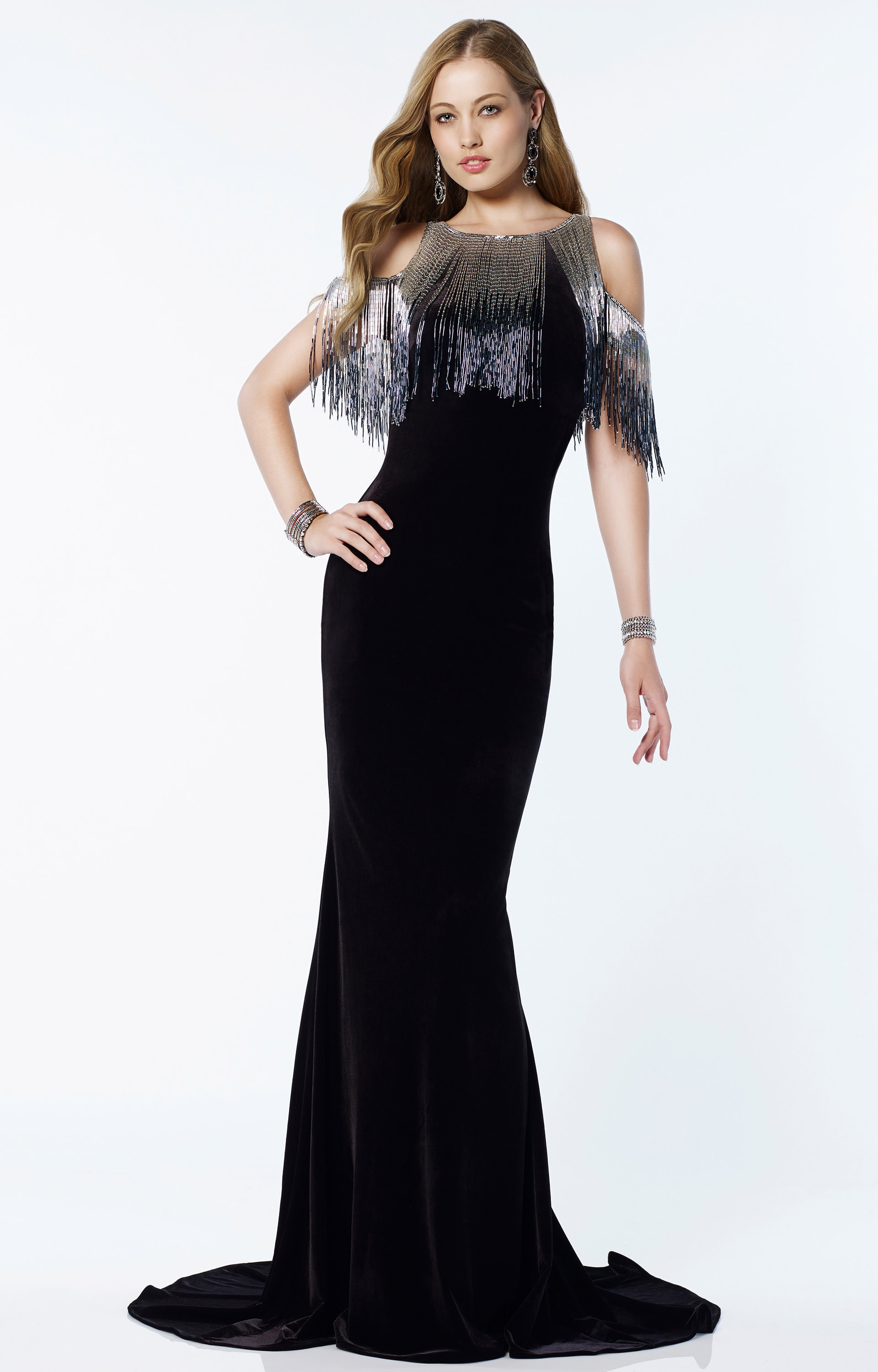Alyce Paris 2611 Fringe Alyce Pairs 2611 Prom Dress