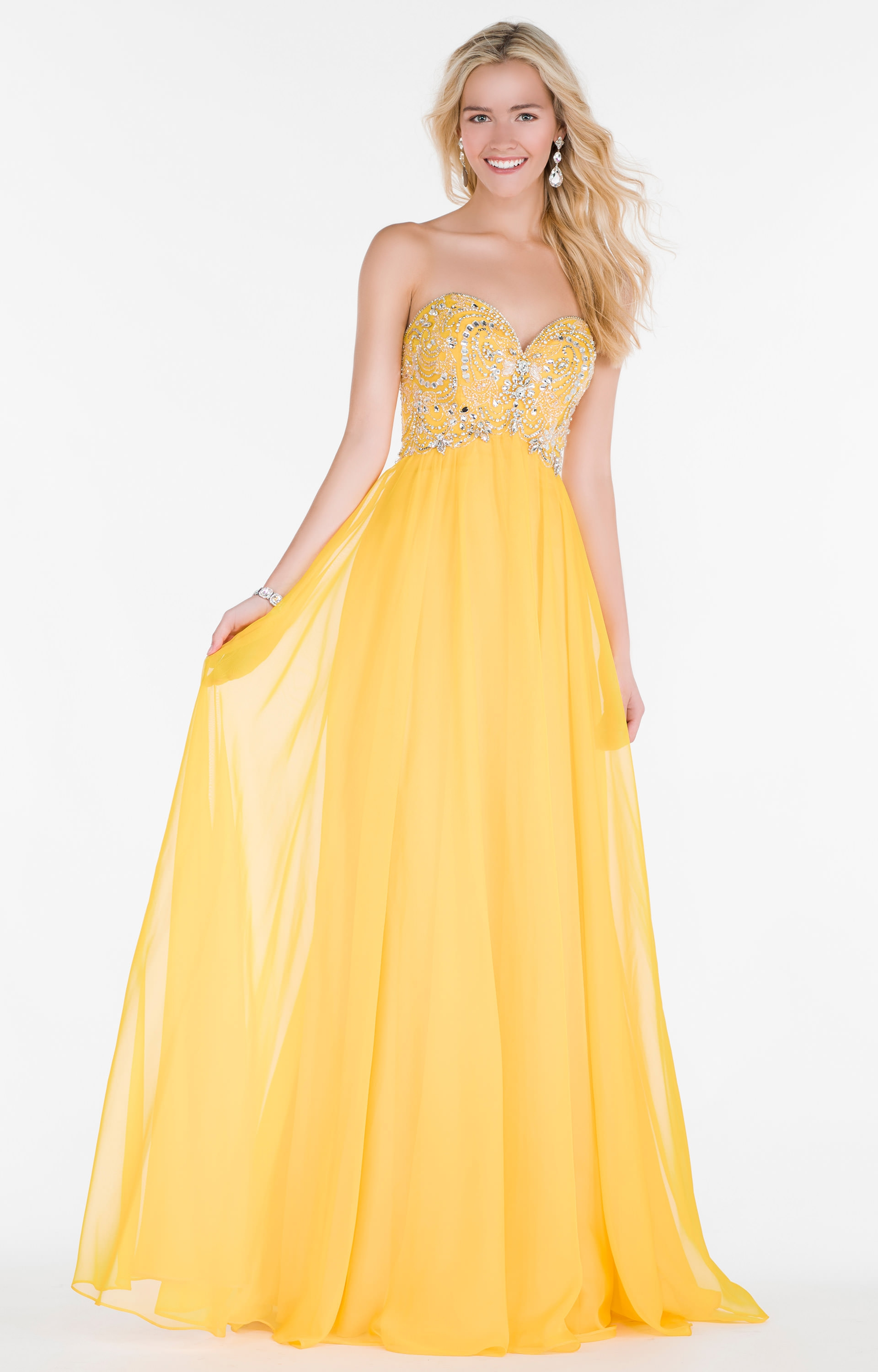 Alyce Paris 6682 - Strapless Sweetheart Chiffon with
