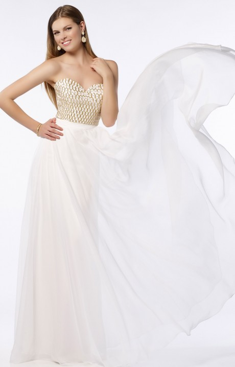 Alyce Paris 6687 Strapless Sweetheart Silky Chiffon A
