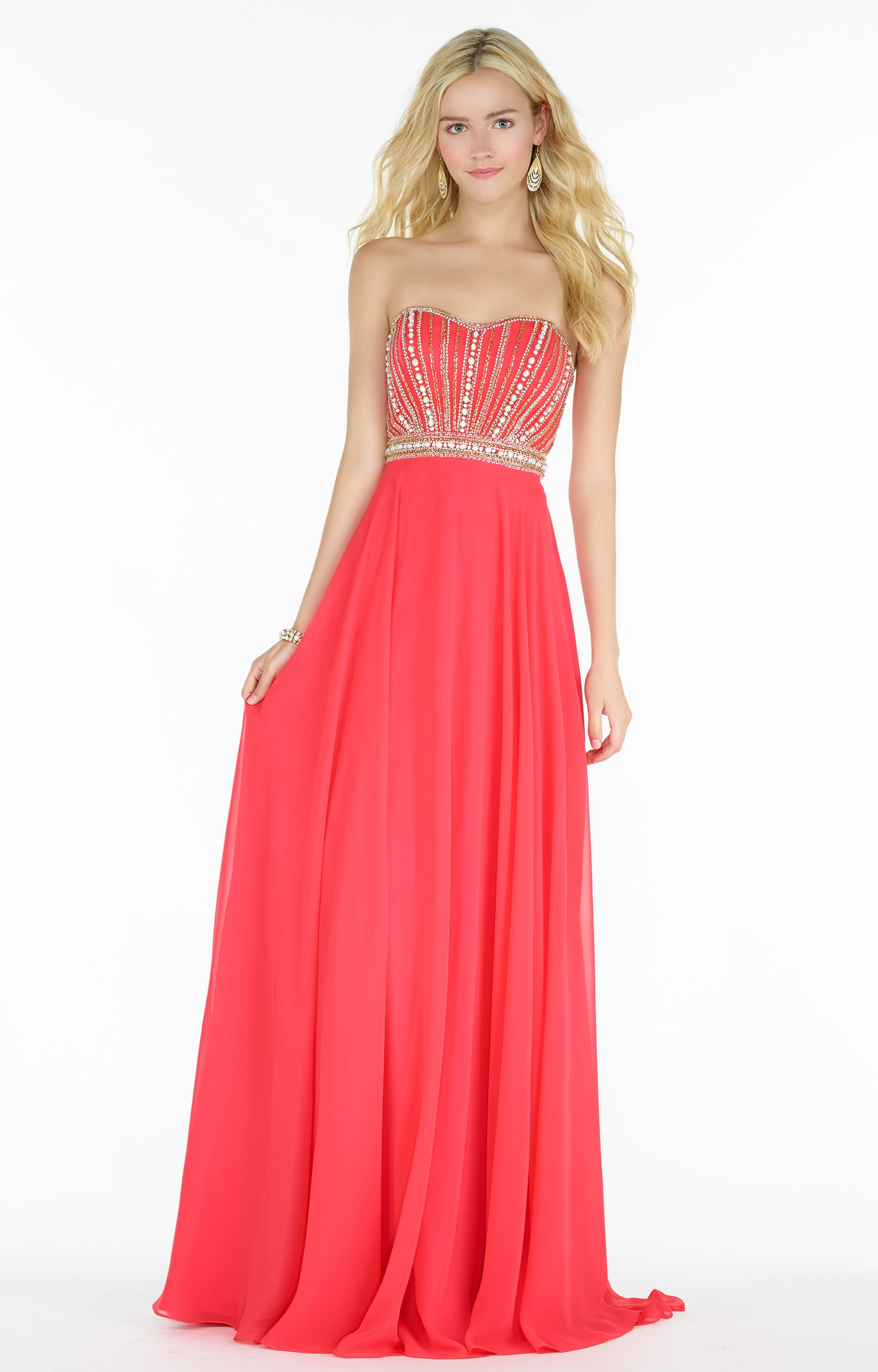 Alyce Paris 6691 Strapless Beaded Sweetheart Neckline