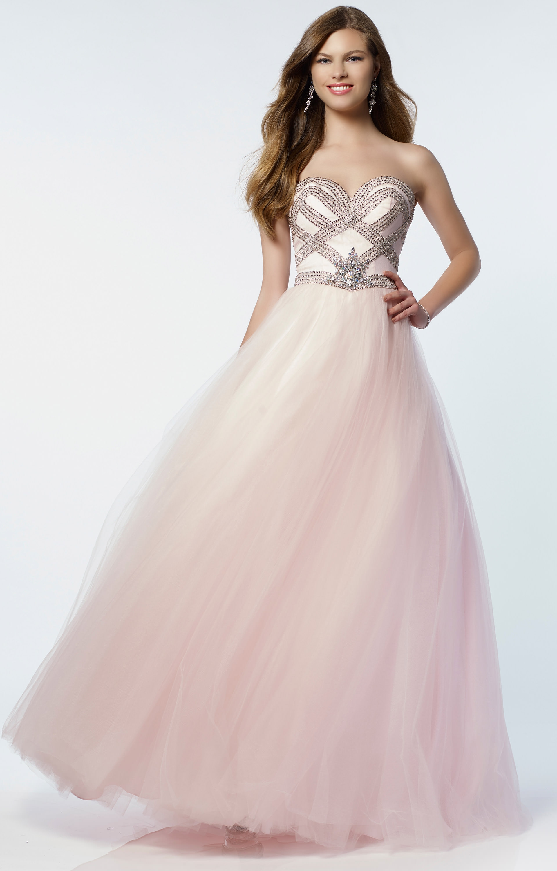 Strapless Cocktail Dress with Sweetheart Beaded Satin Top