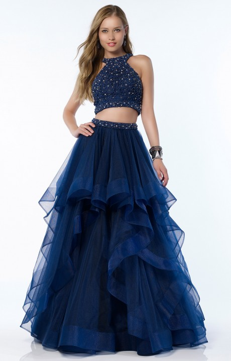 Alyce Paris 6743 Sleeveless Halter Two Piece Ball Gown