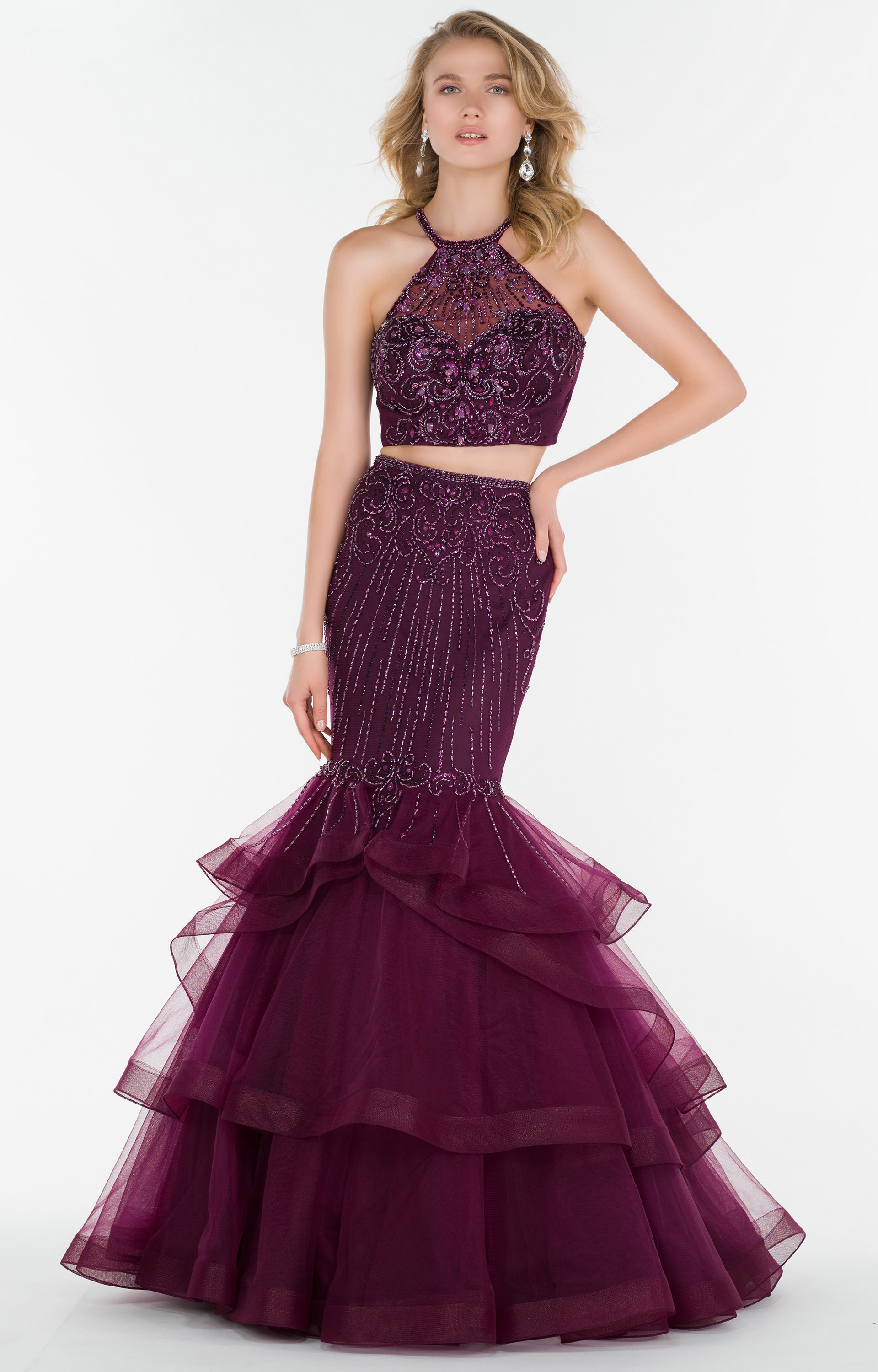 Alyce Paris 6756 - 2 Piece Tulle with Horsehair Hemline Skirt and ...