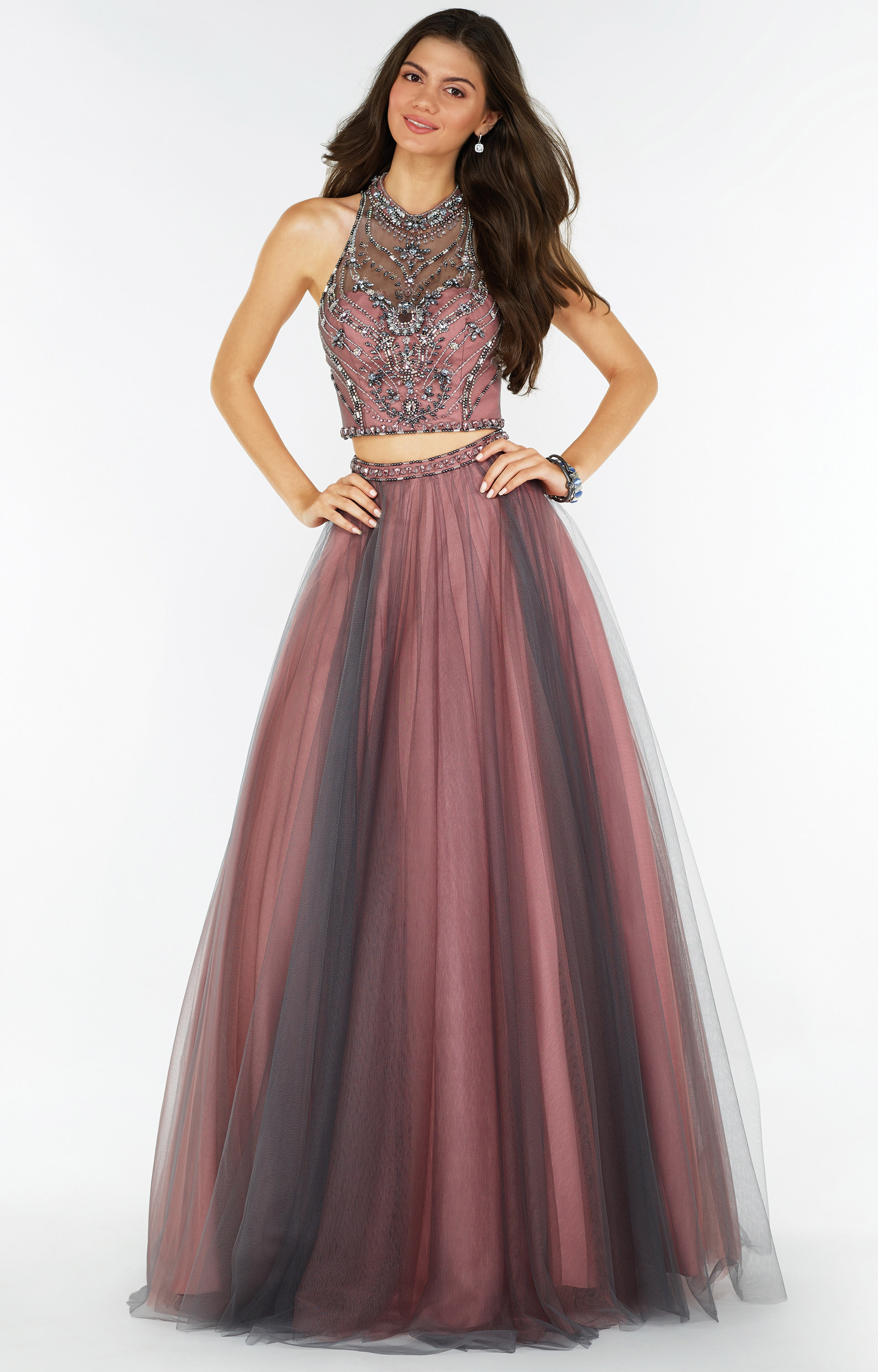74645cb76d62 Alyce Paris 6766 - Sleeveless Two-Piece Tulle Ball Gown with Open Back