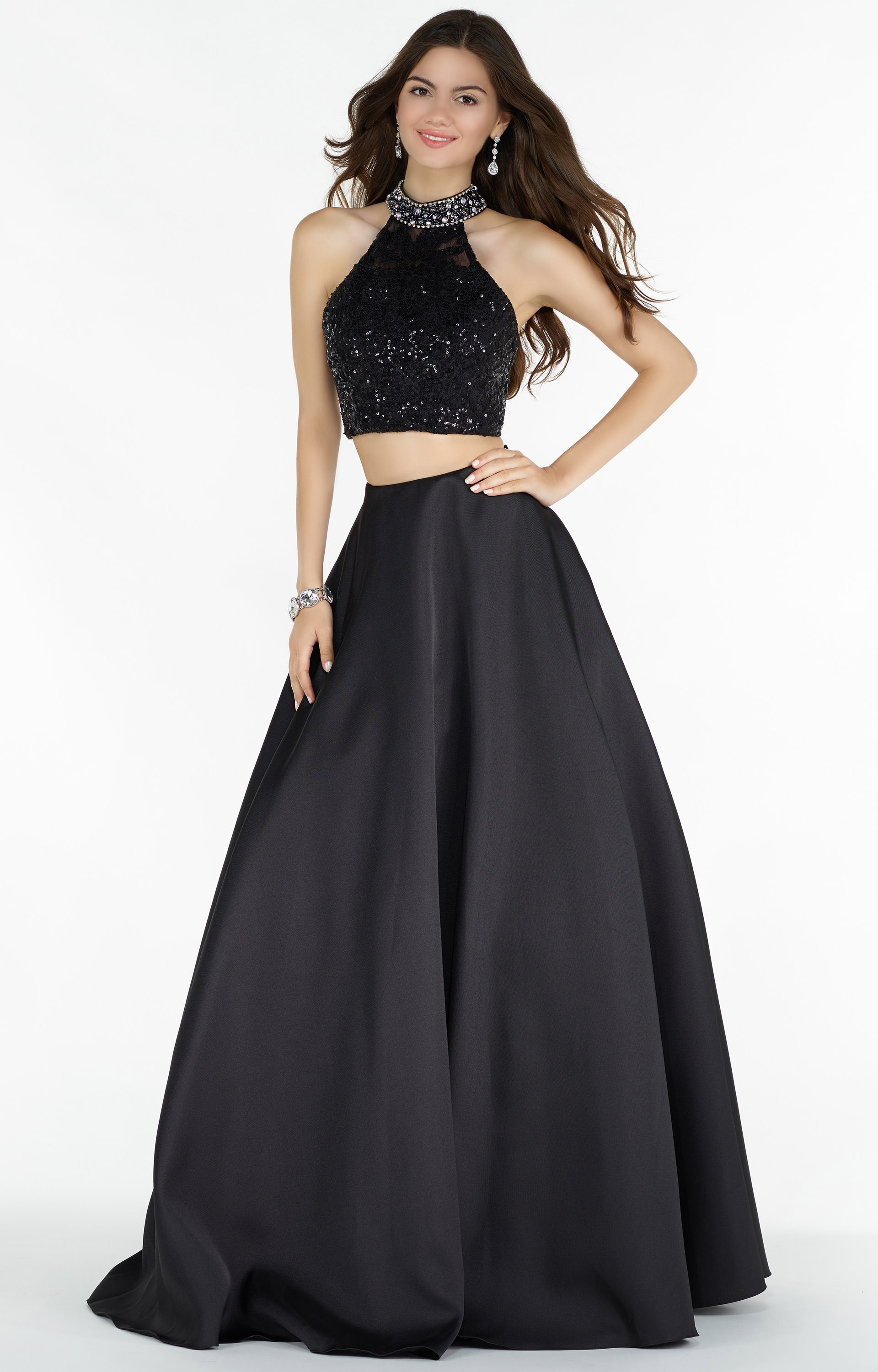 Alyce Paris 6785 Halter Two Piece Ball Gown With