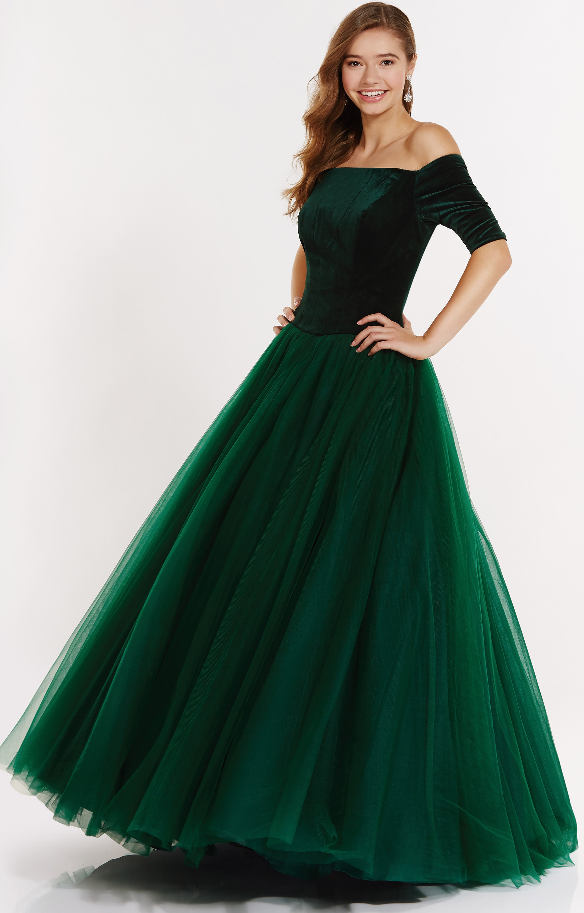 Alyce Paris 6793 Off The Shoulder Velvet And Tulle Ball