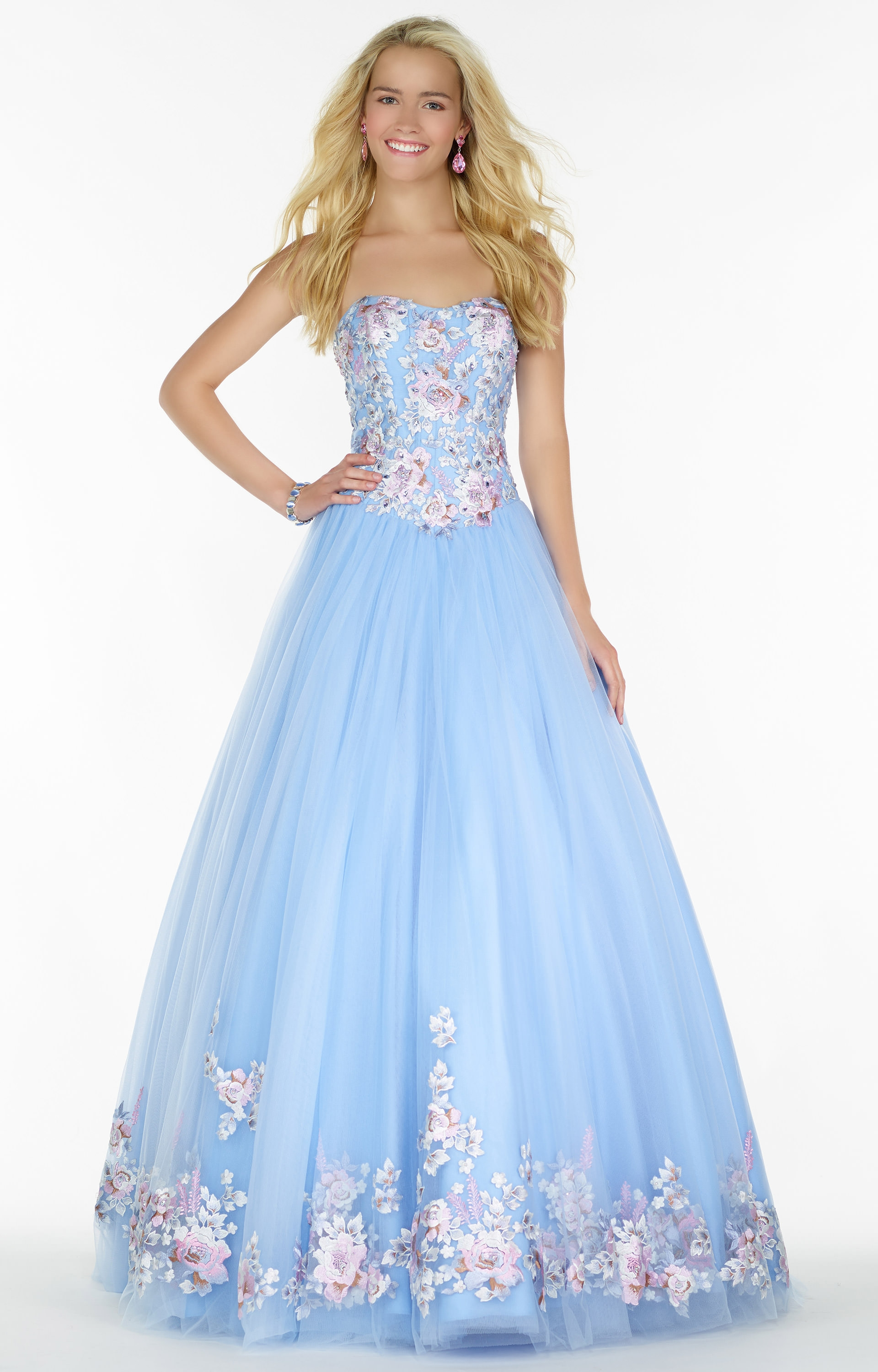 Alyce Paris 6797 Embroidered Tulle Ball Gown Prom Dress