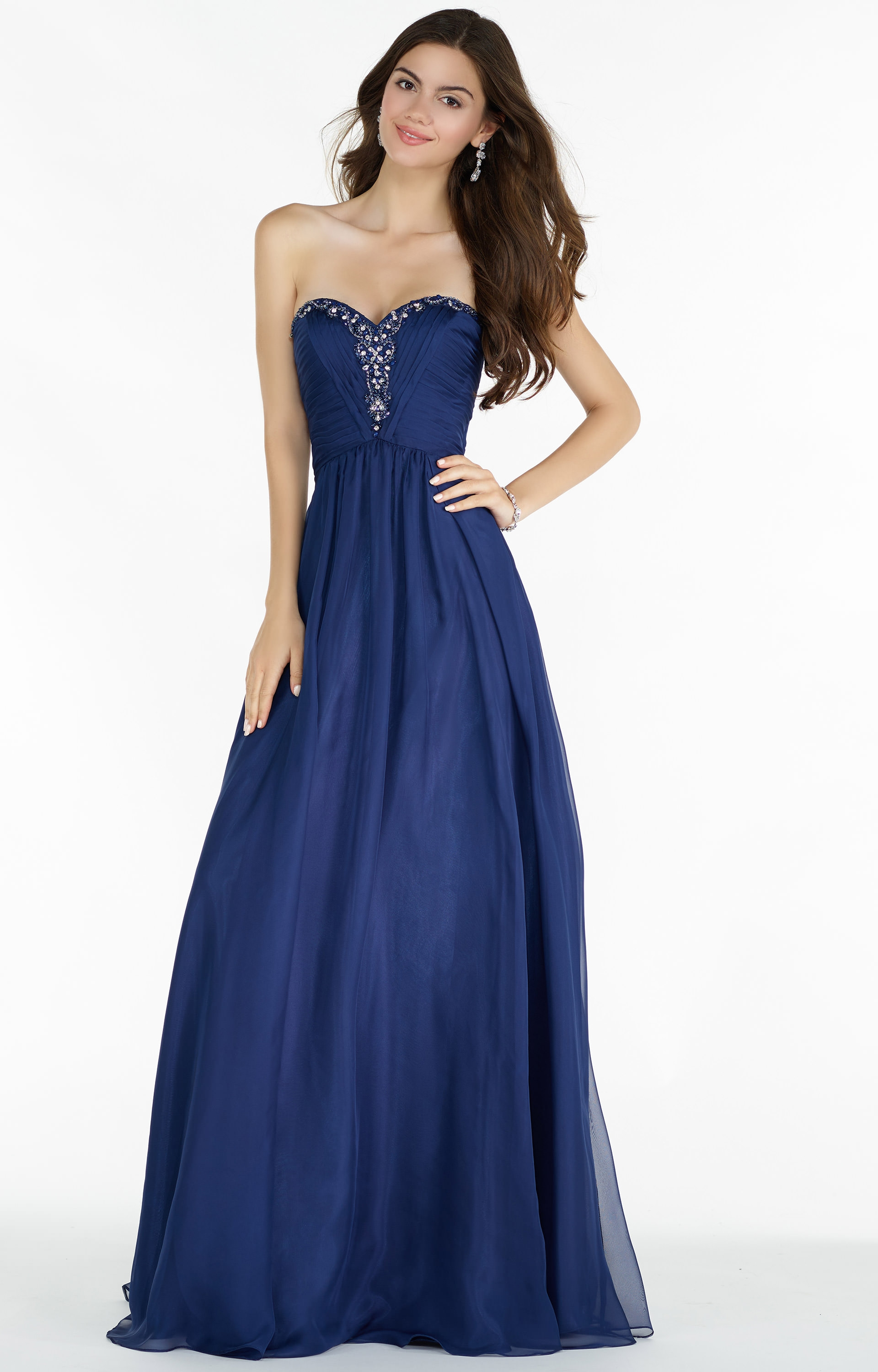 Alyce Paris 8022 Strapless Sweetheart Beaded Neckline