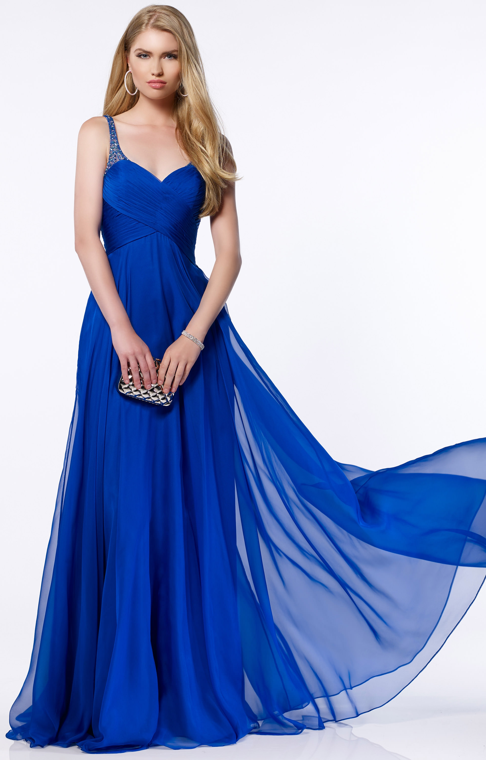f11a261b88d6 Alyce Paris 8023 - Beaded Straps on Silky Chiffon with Ruched Bodice and  Back Cutout