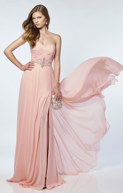 Strapless Woven Sweetheart Neckline with Beaded Waist