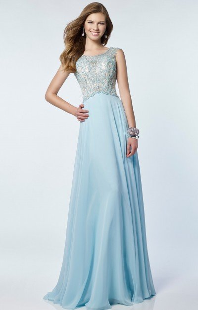 Sleeveless Beaded Chiffon with Open Back