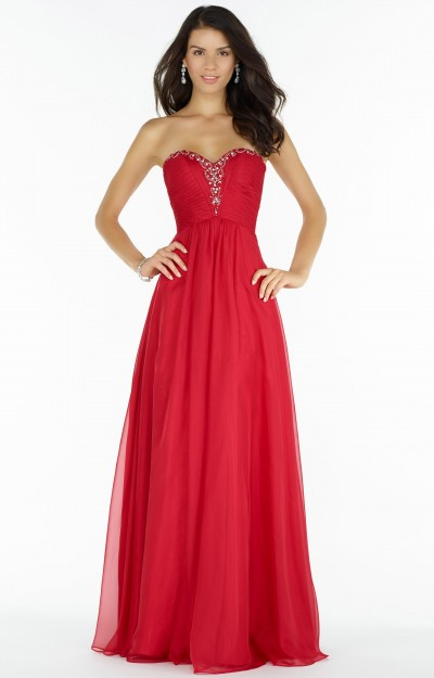 Strapless Sweetheart Beaded Neckline with Small Open Back