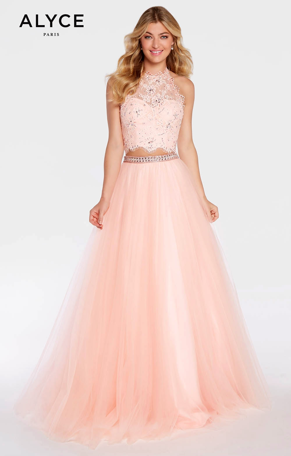 Alyce Paris 1299 - Long 2 Piece Tulle Ball Gown Prom Dress