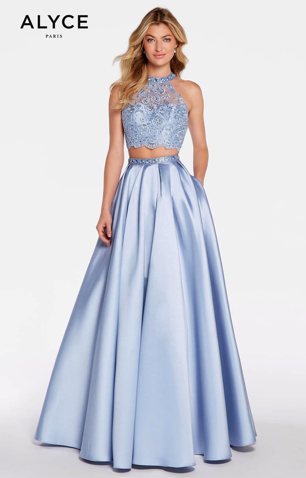 Alyce Paris 1312 Long A Line Mikado 2 Piece Prom Dress