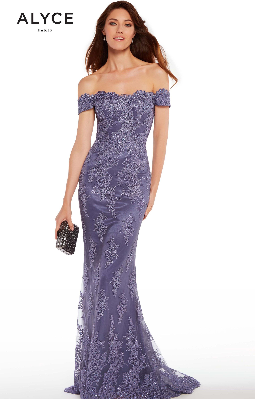 Alyce Paris 27249 - Long Lace Off the Shoulder Prom Dress