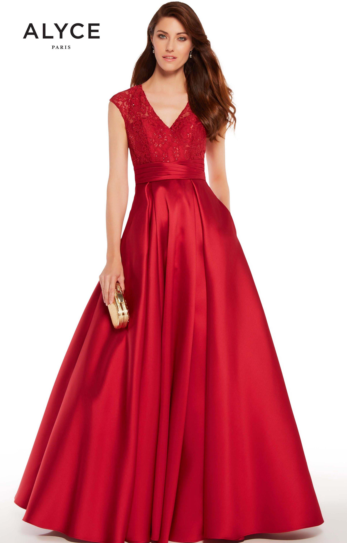 5e81a1ac42 Alyce Paris 27278 - Long V-Neck Ball Gown Prom Dress