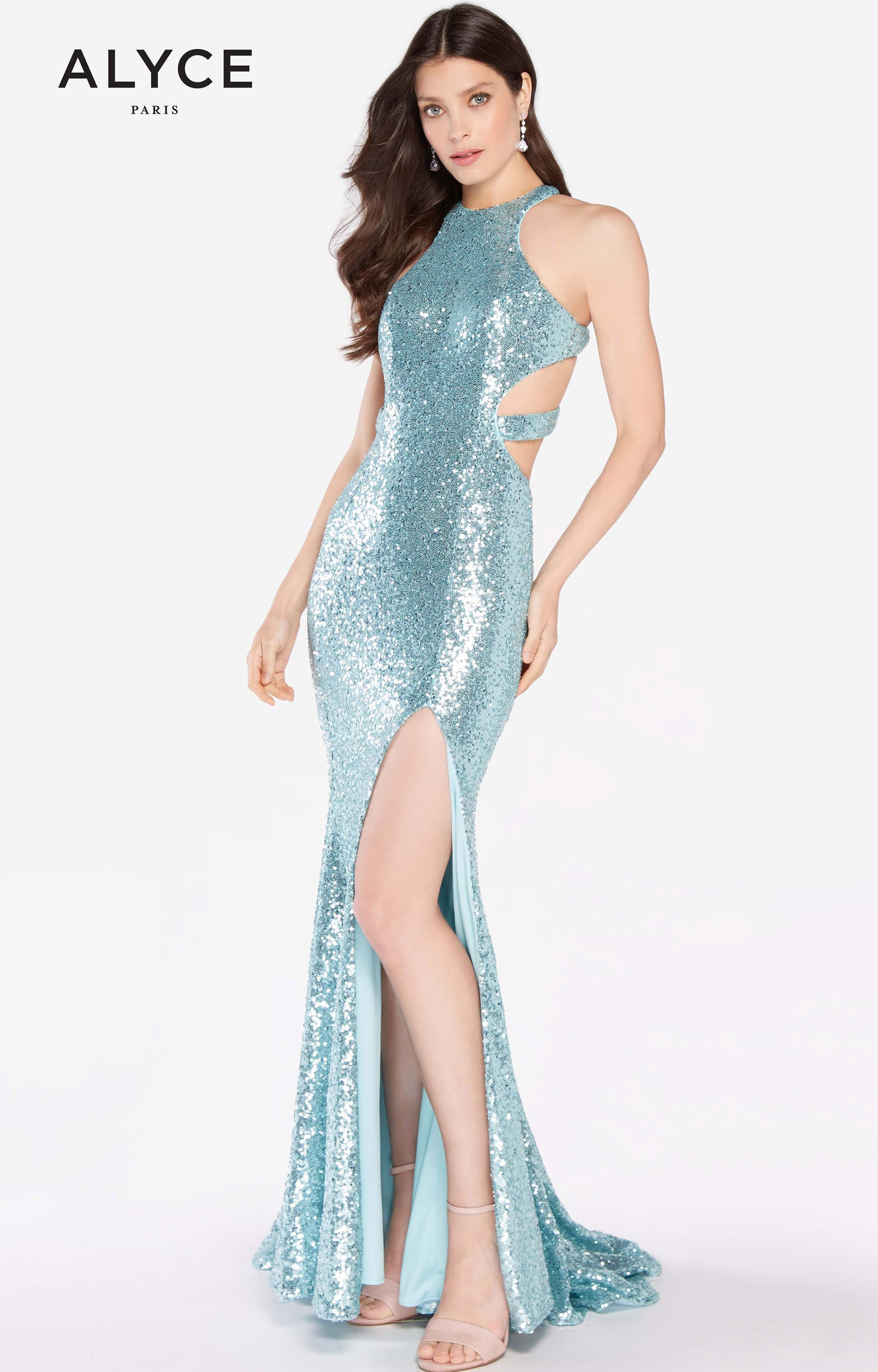 Alyce Paris 60037 - Long Fitted Sequins Prom Dress