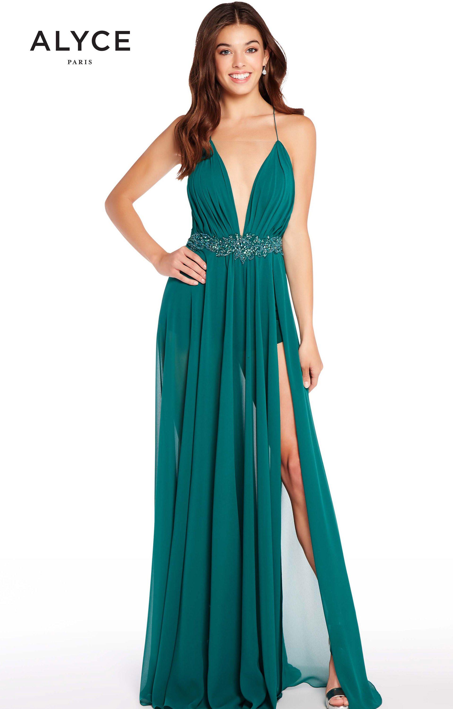 Alyce Paris 60093 - Long A-Line Chiffon Prom Dress