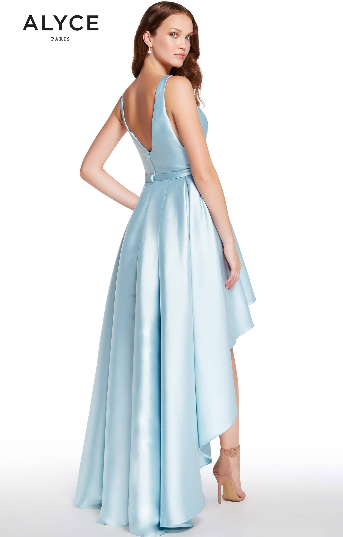 Alyce Paris 60114 - Sleeveless High-Low Mikado Prom Dress