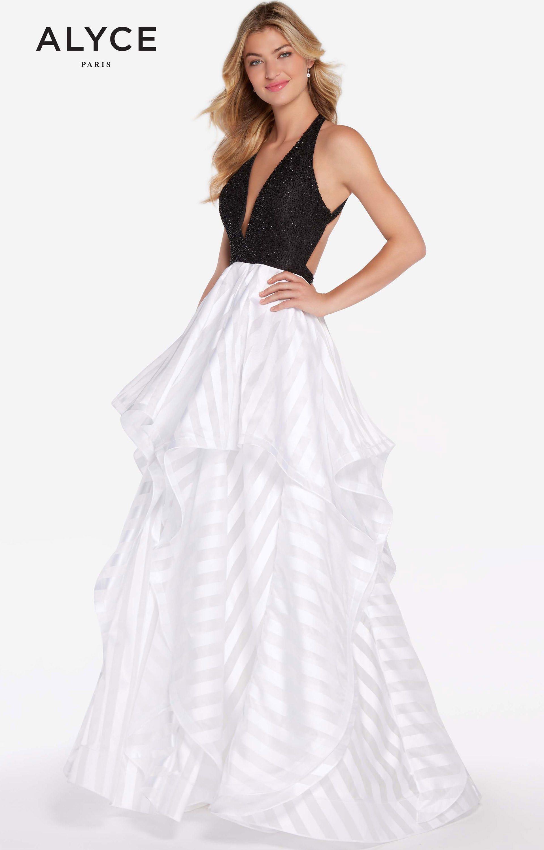 Alyce paris 60148 long a line striped jacquard prom dress alyce paris 60148 ombrellifo Gallery
