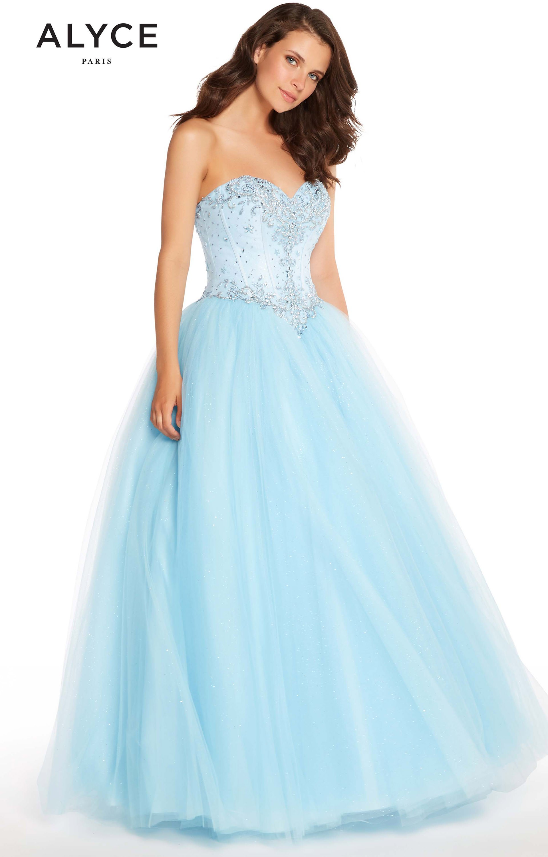 Alyce Paris 60201 - Strapless Sweetheart Sparkle Tulle Ball Gown ...