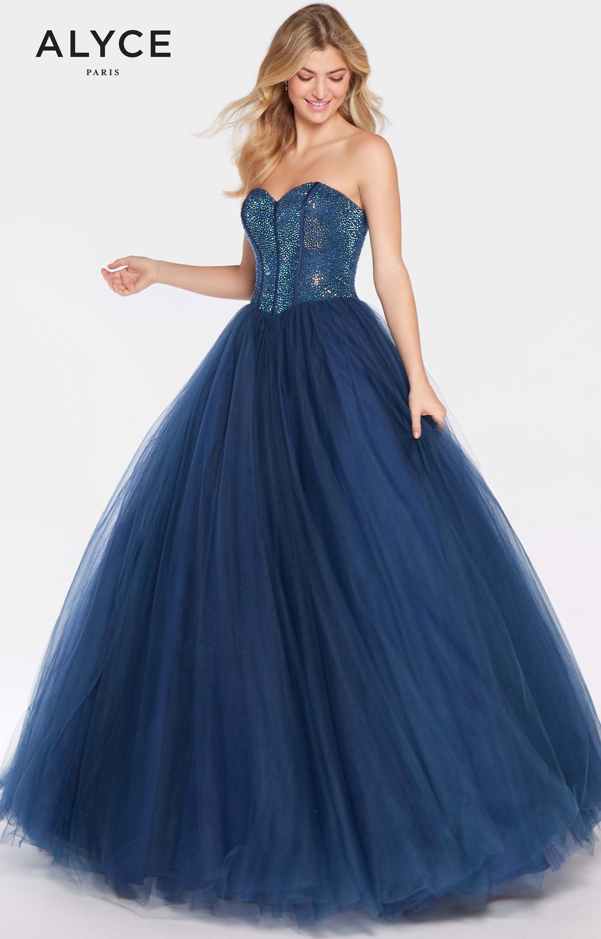 Alyce Paris 60204 - Strapless Sweetheart Tulle Ball Gown Prom Dress