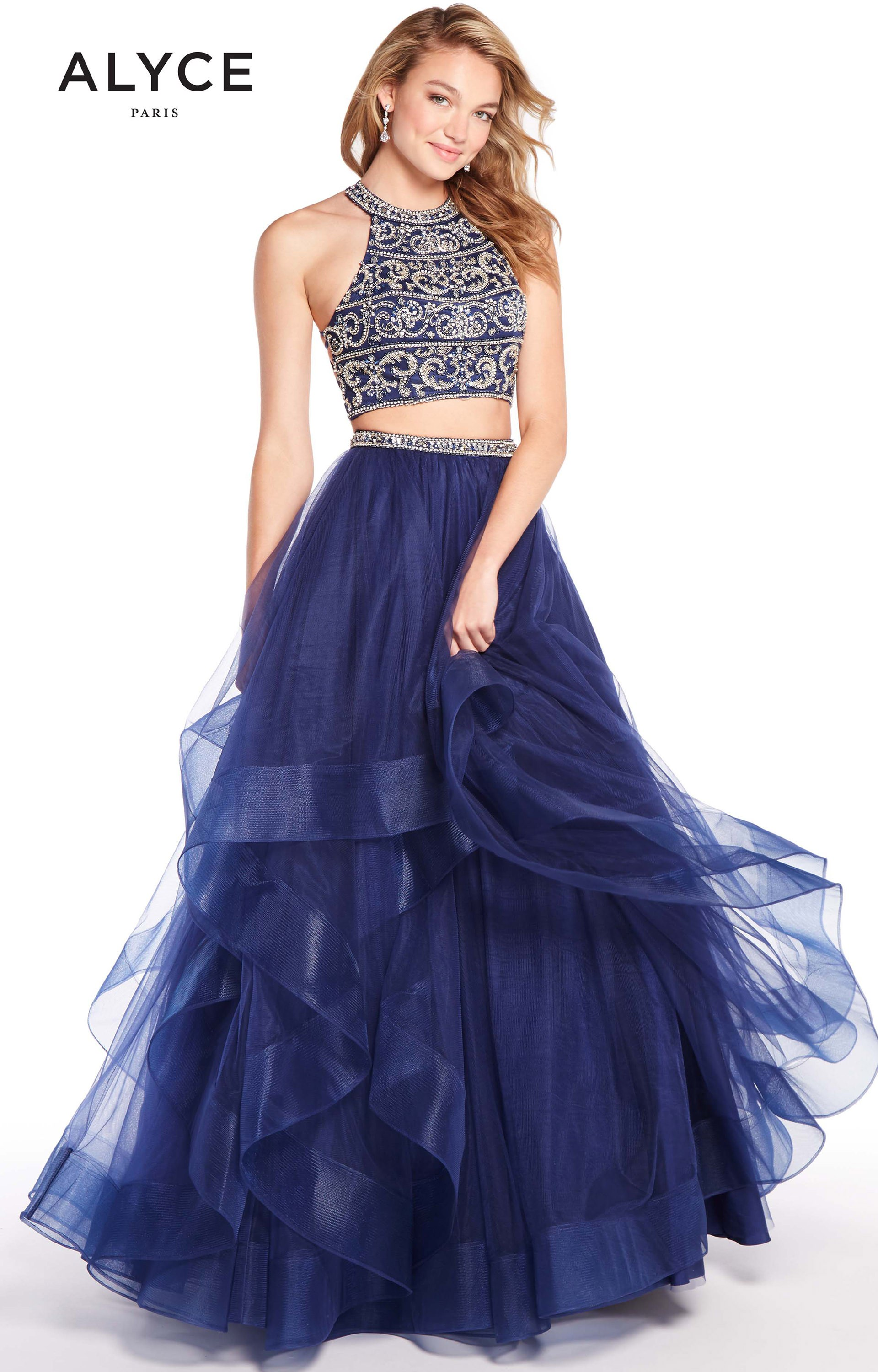 Alyce Paris 60209 - 2 Piece Tulle Ball Gown Prom Dress