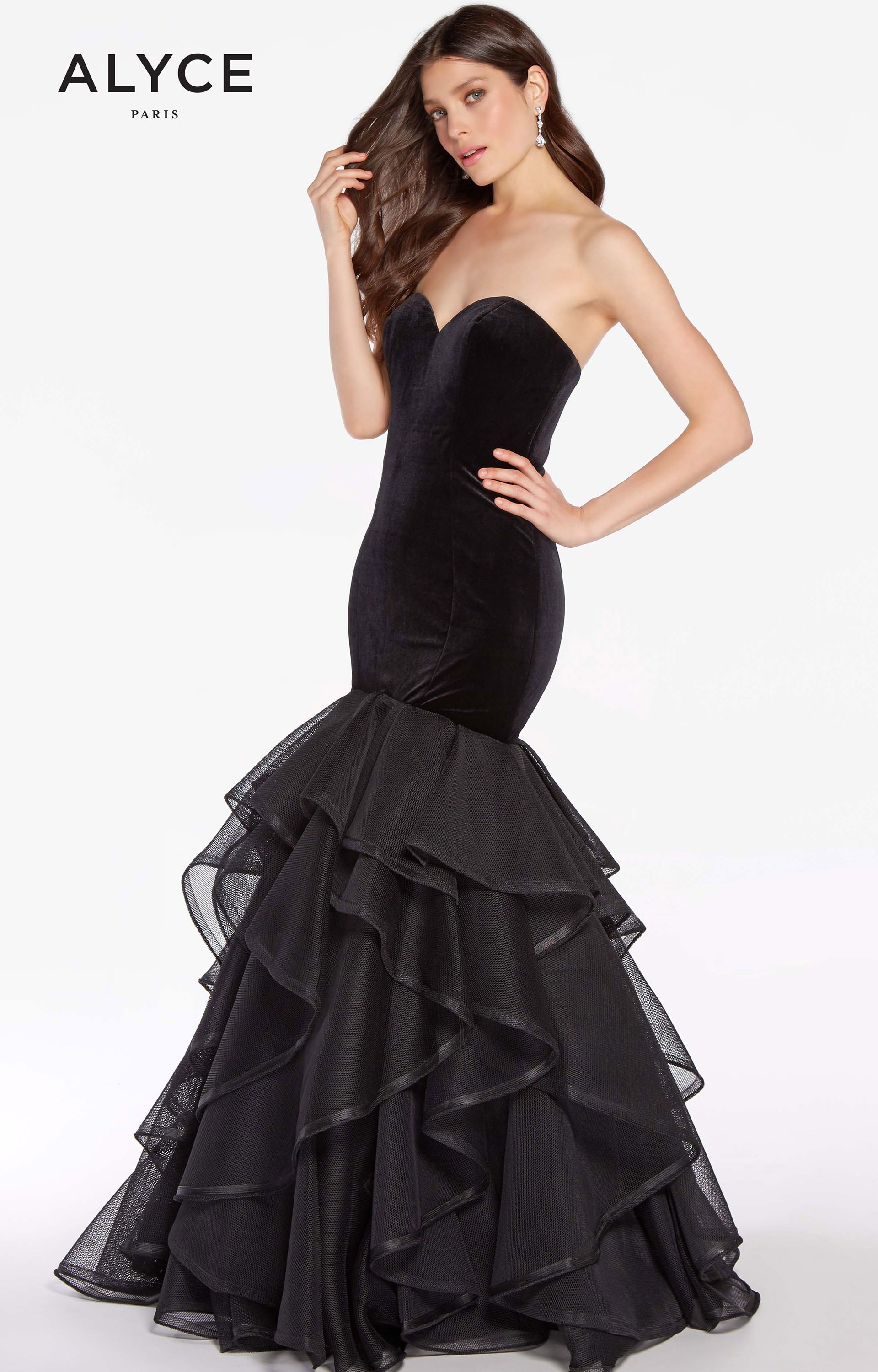 6f209955ef5f Alyce Paris 60228 - Strapless Sweetheart Neckline Velvet Mermaid Dress