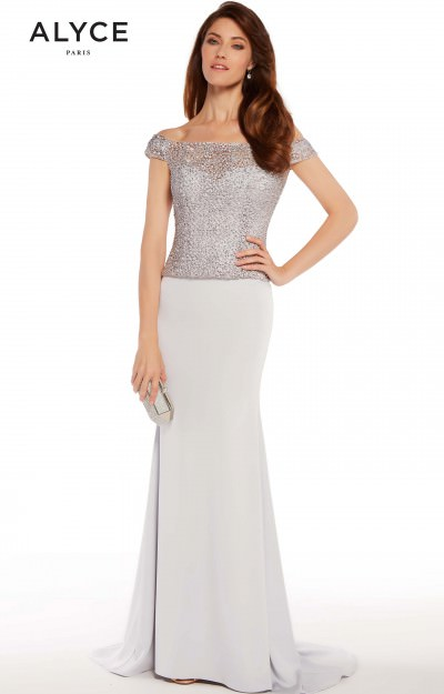 Fitted Strapless/Off Shoulder Gown
