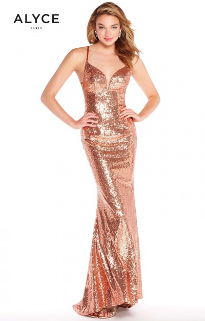 Long Sweetheart Sequins