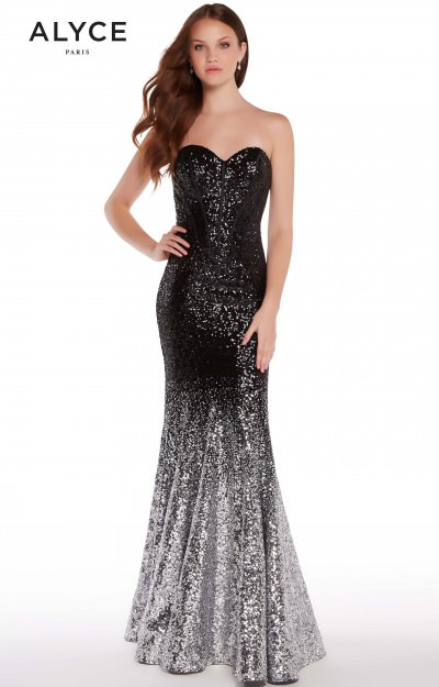 Long Ombre Stretch Sequin