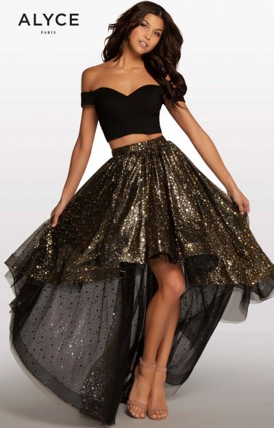 Two Piece High Low Gown