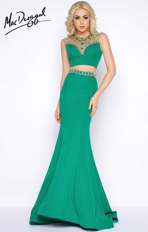 Cassandra Stone 65949A - Mac Duggal Two Piece Dress Prom Dress