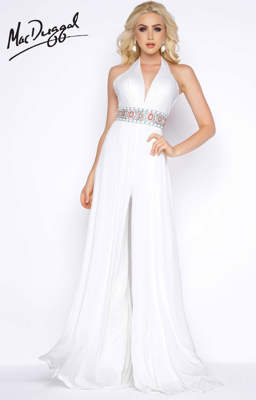 Cassandra Stone 77214a Long V Neck Jumpsuit Prom Dress
