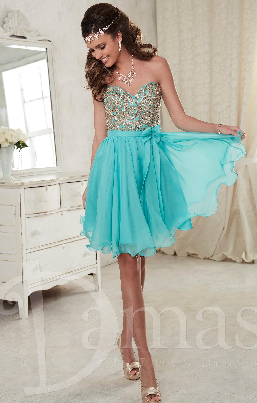93e3ddd87e2 Damas 52386 - Lace and Bow Short Dress