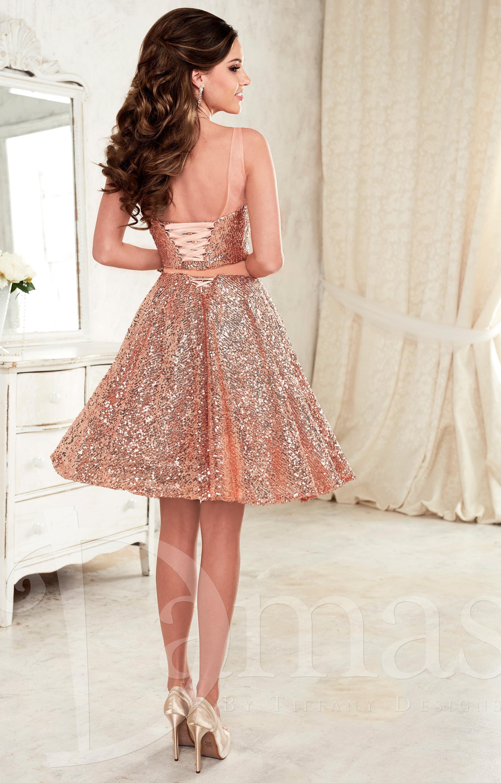 Damas 52391 Two Piece A Line Cocktail Prom Dress