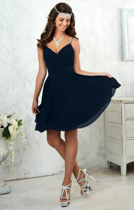 Damas 52402 Short Sweetheart Neckline Chiffon With