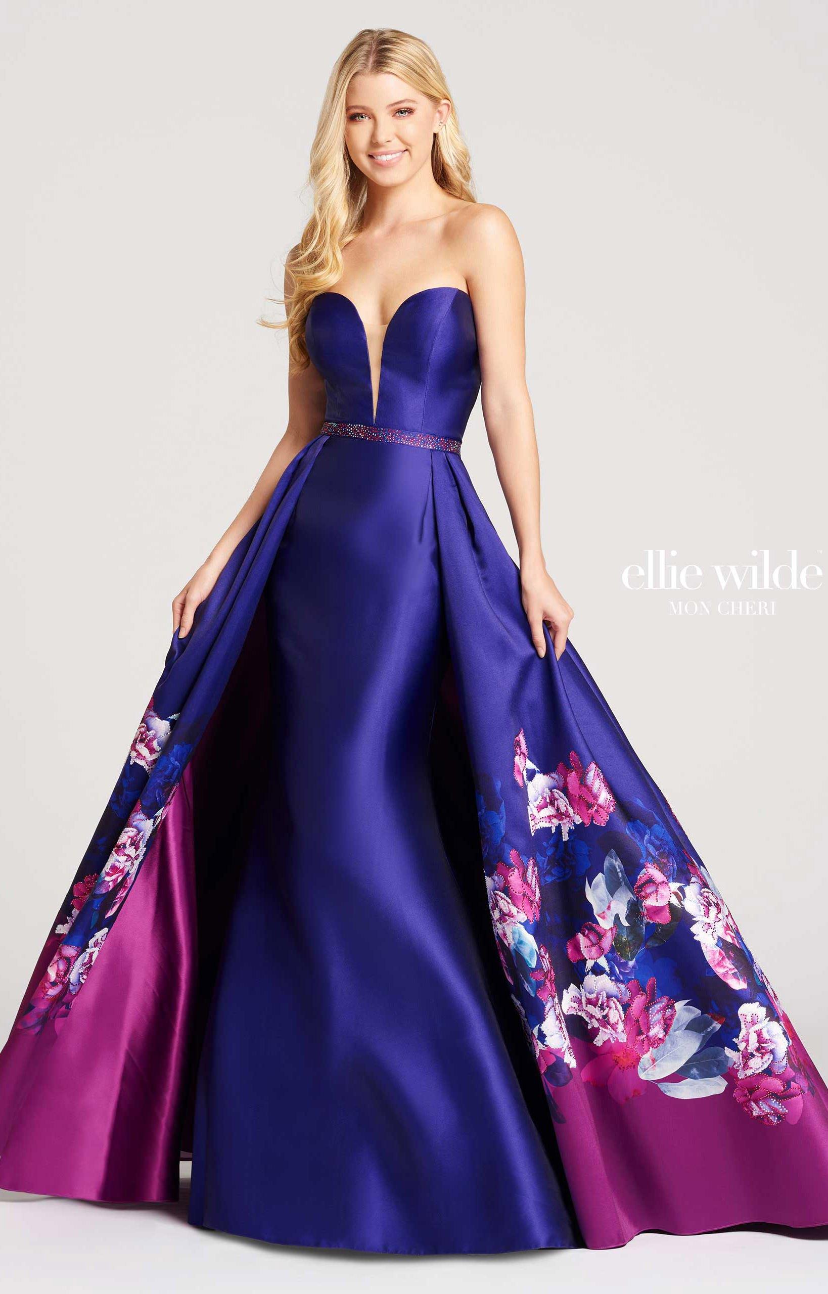 Ellie Wilde EW118014 - Sweetheart Strapless Mermaid Cape Dress Prom ...
