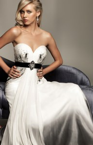 Evenings by Allure A403 Strapless and Sweetheart picture 1