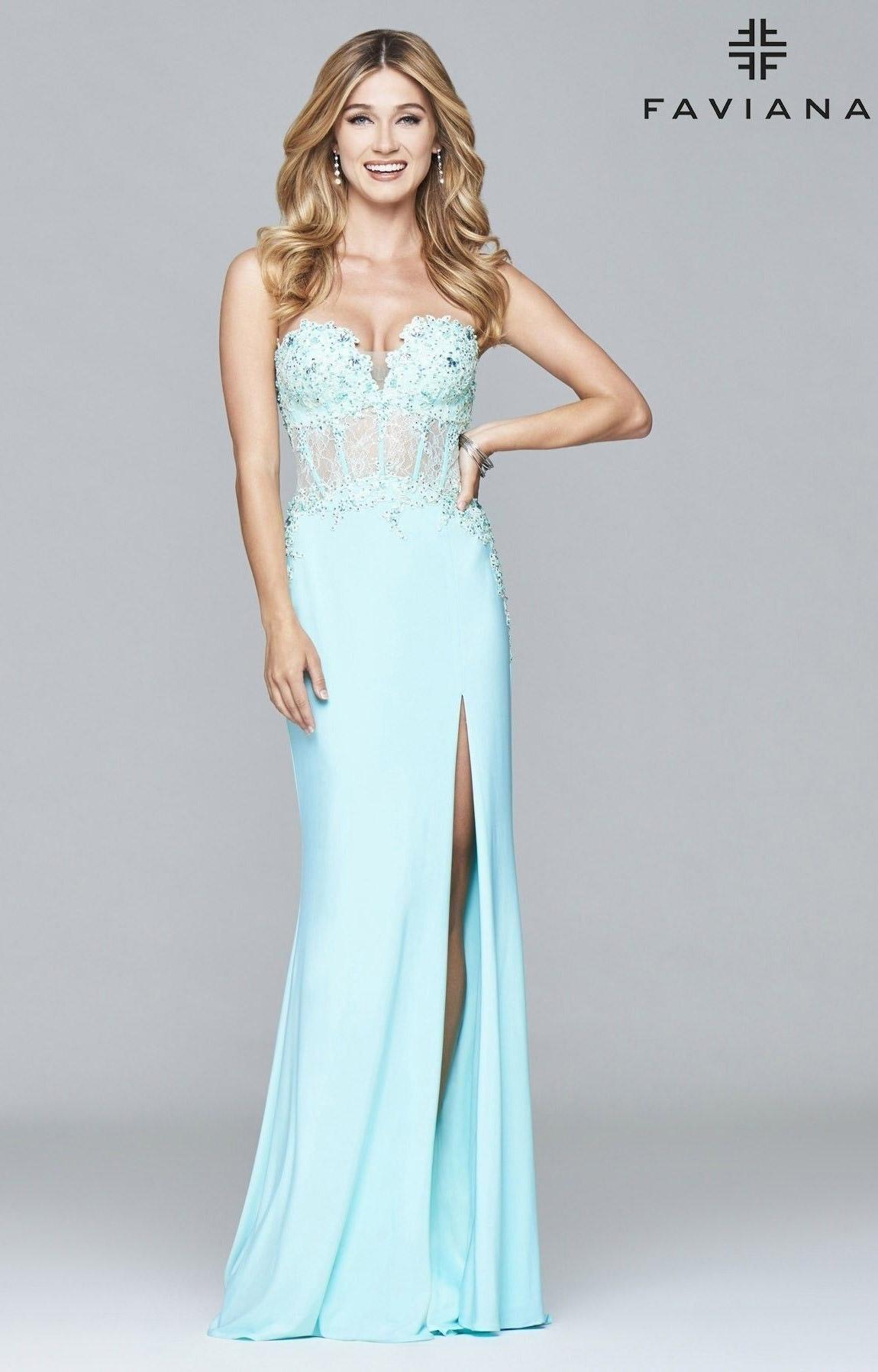 Faviana 9412 - Designer Formal Prom Dress