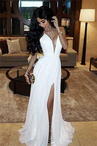 Faviana 7747 - Open Corset Back Dress with Low Neckline Prom Dress 2e6e4916a