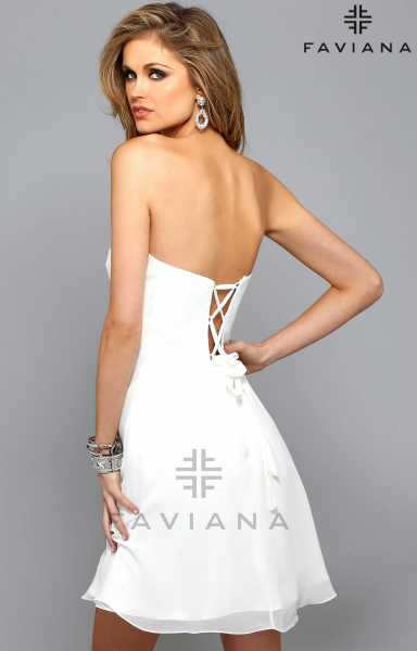 Faviana 7650 Strapless and Sweetheart picture 1