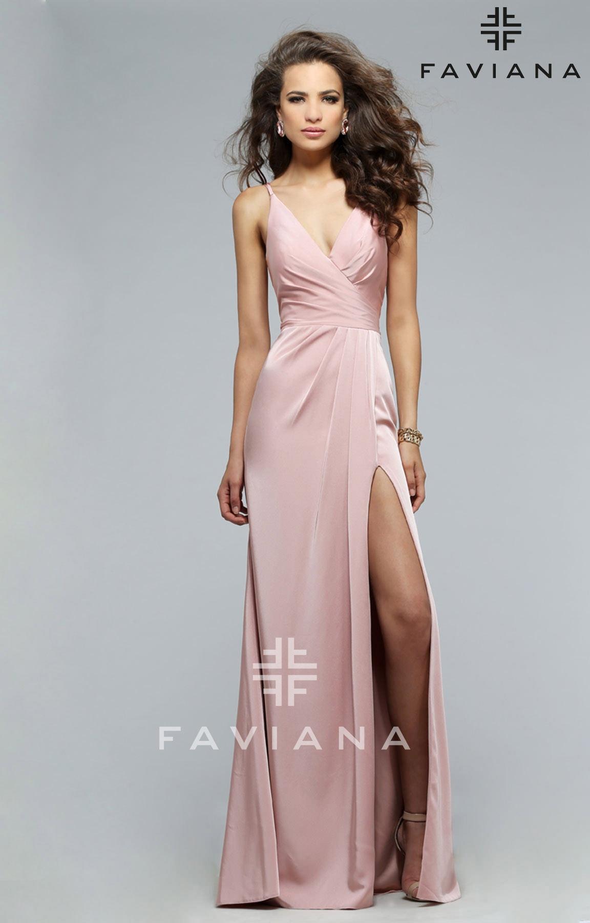 f17cabbb55b Faviana 7755E - Dusty Rose Dress