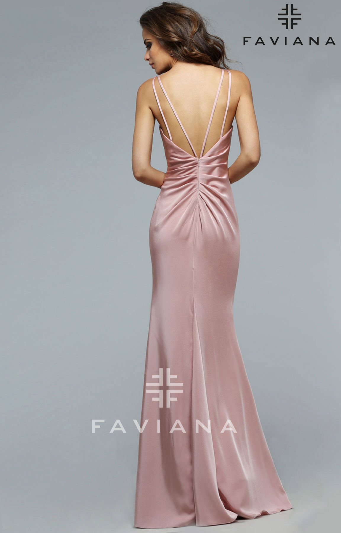 Faviana 7755e Dusty Rose Dress Prom Dress