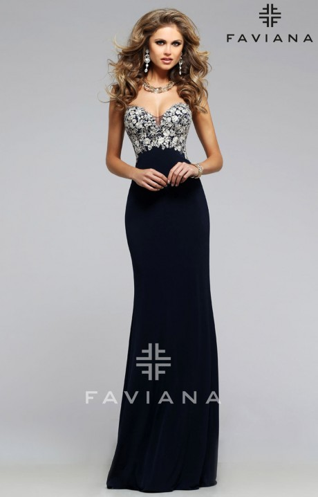 Faviana S7715 Sugar And Spice Gown Prom Dress