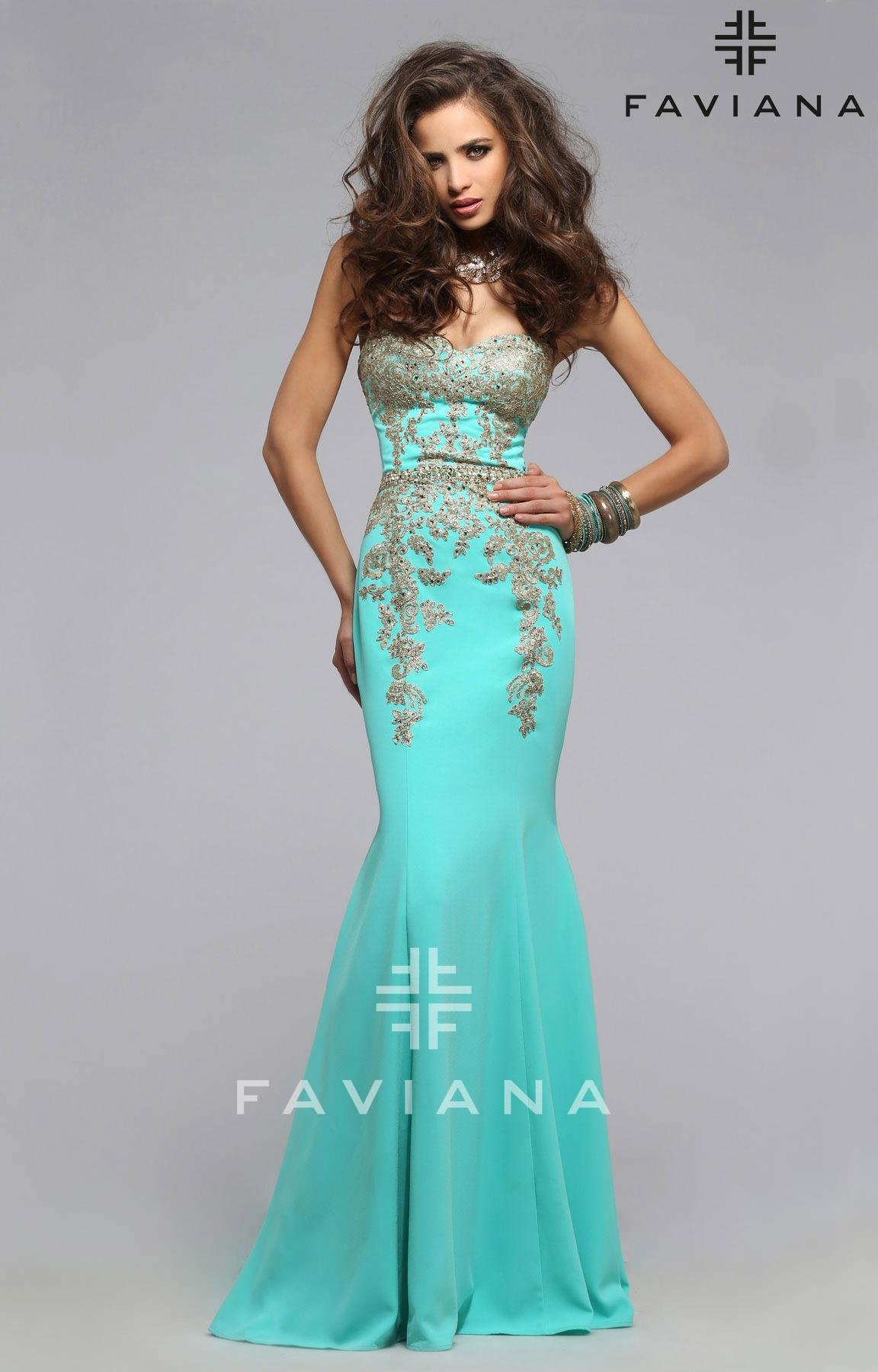 Faviana S7796 - Meet Me in the Garden Dress Prom Dress