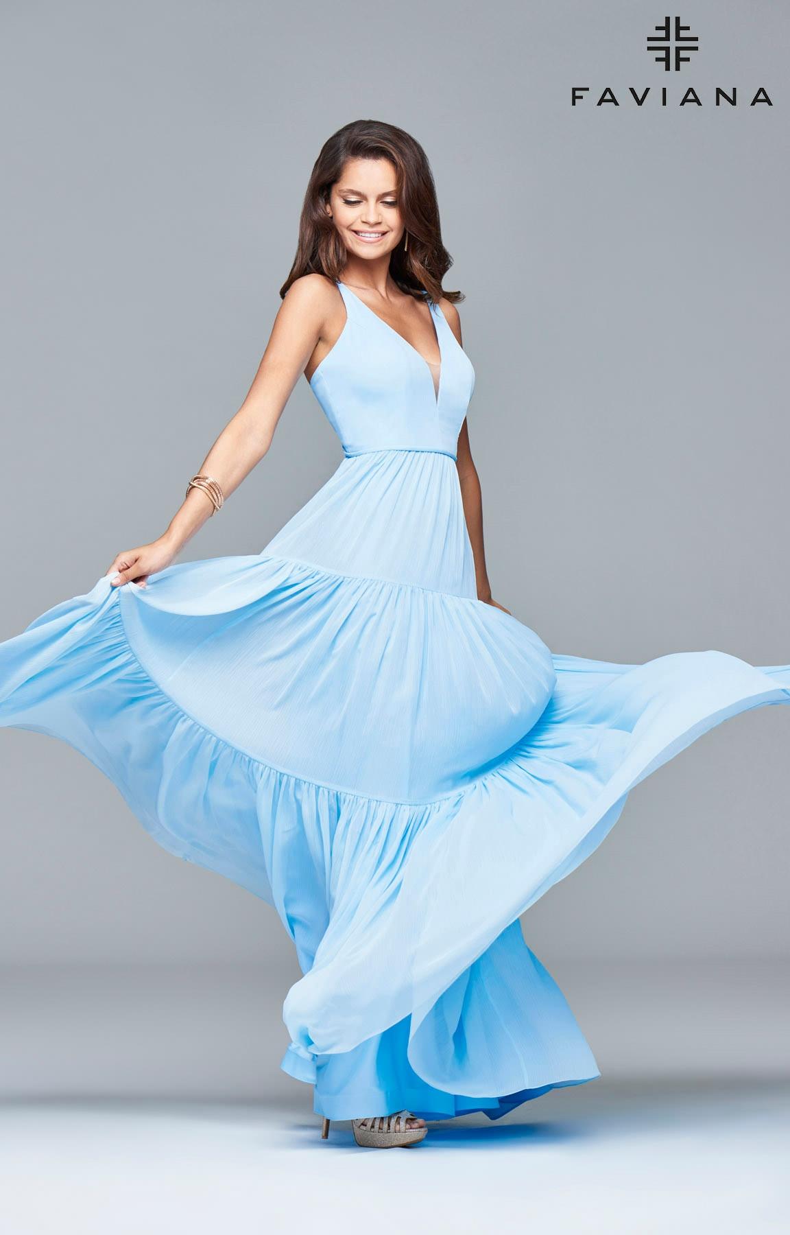 Faviana 7923 Beach Vibes Long Dress Prom Dress